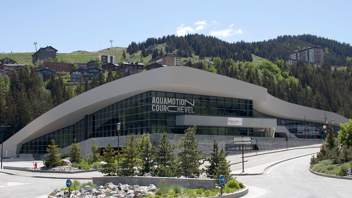 Vue du Centre Aquamotion à Courchevel